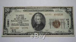 20 $ 1929 Billet De Banque National En Devise Nationale Illinois City IL Bill # 12991 Vf +