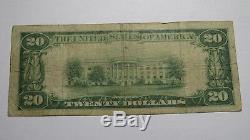 20 $ 1929 Billet De Banque Wooster Ohio Oh En Monnaie Nationale Bill Ch. # 5065 Bien! Rare