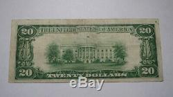 20 $ 1929 Billet De Billet De Banque En Devise Nationale De Lockport New York Ny! Ch. # 639 Vf +