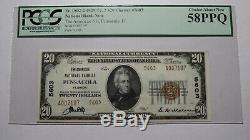 20 $ 1929 Billet De Billet De Banque En Devise Nationale Pensacola Florida Fl! # 5603 New58ppq