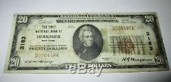 20 $ 1929 Billet De Billet De Banque En Monnaie Nationale Herkimer New York Ny! Ch. # 3183 Fin