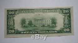 20 $ 1929 Billet De Billets De Banque En Devise Nationale Du Kansas Ks Caney! Ch. # 5349 Xf! Rare