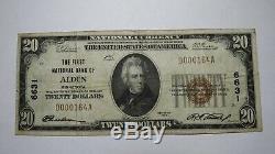 20 $ 1929 Billet De Monnaie National Alden Minnesota Mn (états-unis) Bill Ch. # 6631 Amende