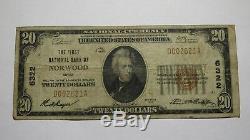 20 $ 1929 Billets De Banque Norwood Ohio Oh Monnaie Nationale Bill Ch. 6322 Fin! Premier
