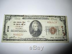 20 $ 1929 Chico California Ca Note De La Banque Nationale De Billets De Banque! Ch. # 8798 Fine