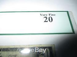 20 $ 1929 Cleveland Oklahoma Ok Note De La Banque Nationale Bill Note N ° 7386 Vf Pcgs