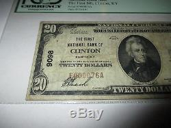 20 $ 1929 Clinton Kentucky Ky National Currency Bank Note Bill Ch. # 9098 Vf! Pcpc