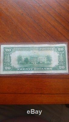 20 $ 1929 Columbus Junction Iowa Ia National Currency Bank Note Ch. # 2032 Fine