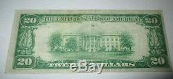 20 $ 1929 Crete Nebraska Ne Banque Nationale Monnaie Note Bill Ch. # 9731 Vf ++