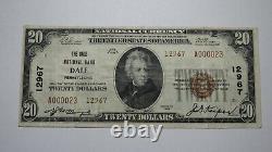 20 1929 Dale Pennsylvania Ap Banque Nationale De Devises Note Bill Ch. #12967 Rare