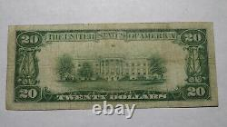 $20 1929 East Rochester New York Ny National Currency Bank Note Bill #10141 Rare