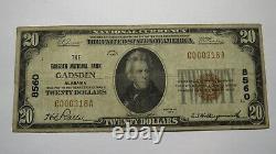 $20 1929 Gadsden Alabama Al National Currency Bank Note Bill Ch. #8560 Fine