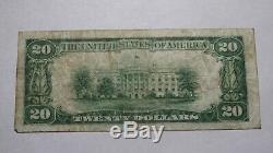 20 $ 1929 Greensburg Pennsylvania Pa Banque Nationale Monnaie Note Bill Ch. # 2558