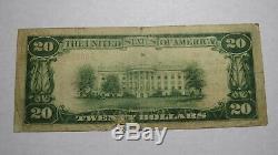 20 $ 1929 Harrisburg Illinois IL Banque Nationale Monnaie Note Bill! Ch. # 4003 Rare