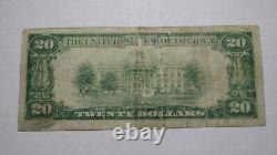 20 1929 Harrisville Pennsylvania Ap National Monnaie Banque Note Bill Ch. Numéro 6859
