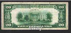 20 1929 Hattiesburg Mississippi Ms Monnaie Nationale Note De Banque #5176 Nt0119