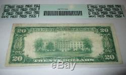 20 1929 $ Hillsdale Michigan MI Banque De Monnaie Nationale Note Bill Ch. # 168 Vf20