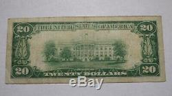 20 $ 1929 Ithaca New York, Ny Banque Nationale Monnaie Note Bill! Ch. # 222 Fin
