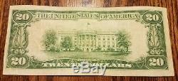20 $ 1929 Jacksonville Floride Fl Note De La Banque Nationale Bill Ch. # 6888 Vf