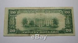 20 $ 1929 Lawton Oklahoma Ok Billet De Billets De Banque En Monnaie Nationale! Ch. # 12067 Vf +