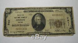 20 $ 1929 Linton Indiana Monnaie Nationale De Billets De Banque Bill Ch. # 7411 Rare