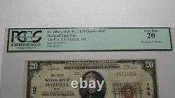 20 1929 Marietta Ohio Oh Monnaie Nationale Banque Note Bill Ch. Pcgs #142 Vf20