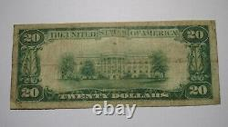$20 1929 Mccomb City Mississippi Ms National Currency Bank Note Bill! #7461 Très Bien