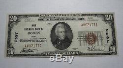 20 $ 1929 Monnaie Nationale Ut Utah Ogden Bank Note Bill! Ch. # 2597 Xf ++