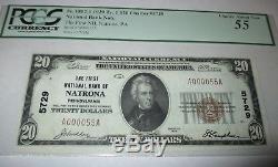 $ 20 1929 Natrona Pennsylvania Pa National Billet De Banque Bill Ch. # 5729 Nouveau