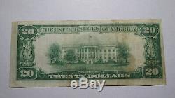 20 $ 1929 Neodesha Kansas Ks Banque Nationale Monnaie Note Bill! Ch. # 6895 Vf +