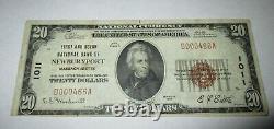 20 $ 1929 Newburyport Massachusetts Ma Banque Nationale Monnaie Note Bill # 1011 Vf
