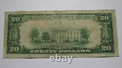 $20 1929 Oblong Illinois IL National Currency Bank Note Bill! Ch. #8607 Fine+