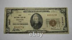 $20 1929 Ogden Utah Ut National Currency Bank Note Bill Charter #2597 Rare
