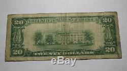 20 $ 1929 Opp Alabama Al Banque Nationale Monnaie Note Bill Charte # 7985 Rare