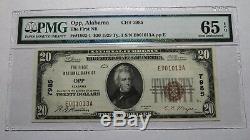 20 $ 1929 Opp Alabama Al Banque Nationale Monnaie Remarque Bill 7985 Uncirculated 65epq