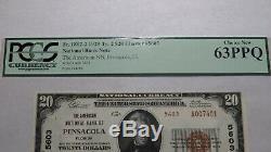 20 $ 1929 Pensacola En Floride Fl Banque Nationale Monnaie Note Bill Ch # 5603 New63ppq