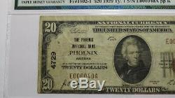 20 $ 1929 Phoenix Arizona Az Banque Nationale Monnaie Note Bill! Ch. # 4729 Vf20 Pmg