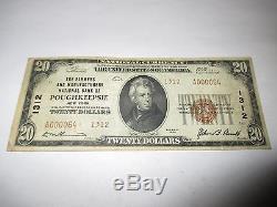20 $ 1929 Poughkeepsie New York Ny Note De La Banque Monétaire Nationale Bill! Ch. # 1312 Vf