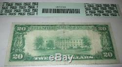 20 $ 1929 Randolph Nebraska Ne Banque Nationale Monnaie Note Bill # 7477 Vf Pcgs