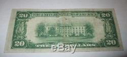$ 20 1929 Raton Nouveau-mexique Nm Projet De Loi Sur Les Billets De Banque Nationaux! Ch. # 12924 Vf
