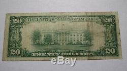 20 $ 1929 Redwood City En Californie Ca Banque Nationale Monnaie Note Bill! # 7279 Fin