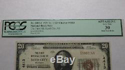 20 $ 1929 Reed City Michigan MI Banque Nationale Monnaie Note Bill Ch. # 4413 Vf