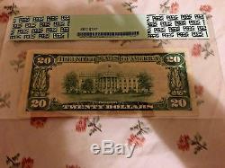 20 $ 1929 Rockford Illinois, IL Billets De Banque En Monnaie Nationale Bill Ch # 1816 Nouveau Pcgs