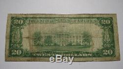 20 $ 1929 Rogers Arkansas Ar Monnaie Nationale De Billets De Banque Bill Ch. # 10750 Fin