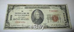 $ 20 1929 Rutherford New Jersey Nj National Billets De Banque Bill Ch # 5005 Fine