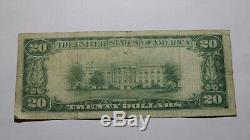 20 $ 1929 San Francisco Californie Ca Banque Nationale Monnaie Note Bill! # 13044 Vf
