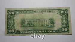$20 1929 Saratoga Springs New York Ny Monnaie Nationale Banque Note Bill #893 Vf+