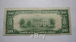 20 $ 1929 Scranton Pennsylvania Pa Banque Nationale Monnaie Note Bill! Ch. # 77 Vf