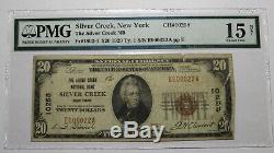20 $ 1929 Silver Creek À New York Ny Banque Nationale Monnaie Note Bill Ch. # 10258