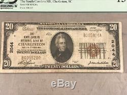 $ 20 1929 South Carolina Bank Of Charleston Note Gpc Fine 15 Monnaie Nationale